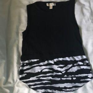 Michael Kors sleeveless top with zebra print